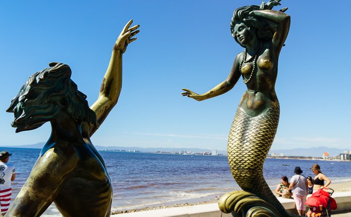 Puerto Vallarta Sculptures Malecon Mexico