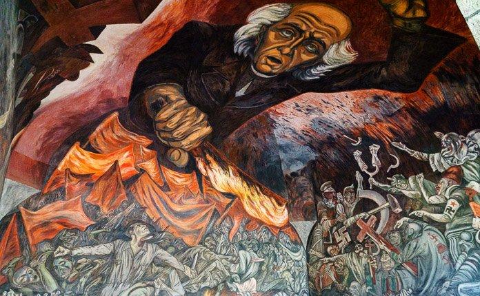 José Clemente Orozco Art Guadalajara Centro Historico Mexico