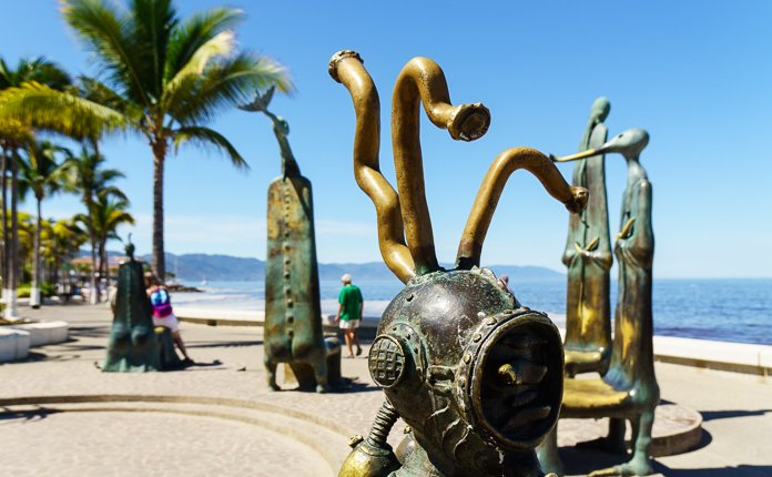 Puerto Vallarta Malecon Sculptures Mexico