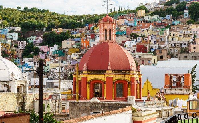 Guanajuato City Buildings Mexico