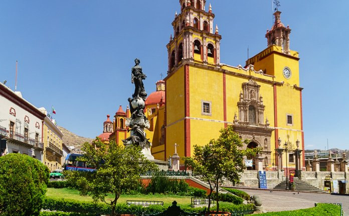 Guanajuato City Church Mexico