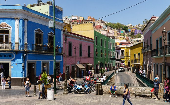 Guanajuato City Painted Streets Mexico