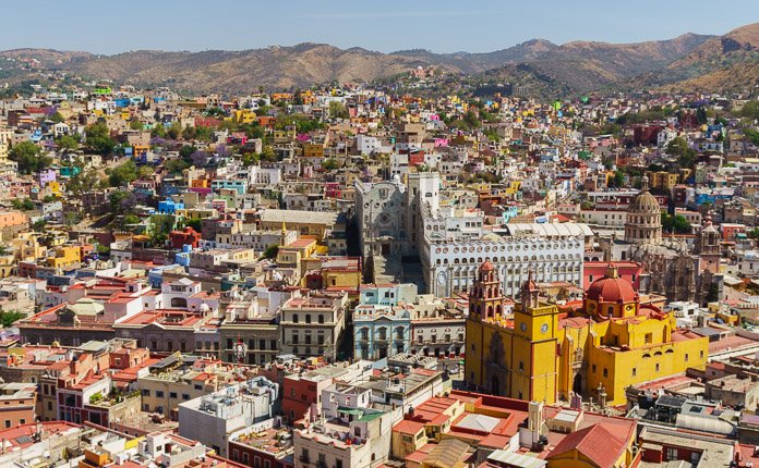 Guanajuato City Overlook Mexico