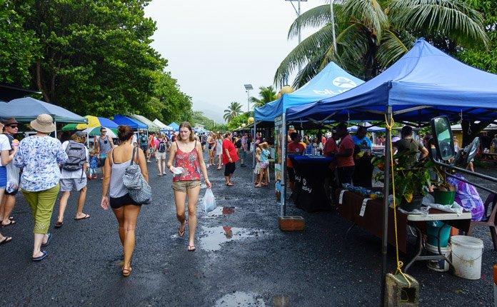 Rarotonga Market Stalls