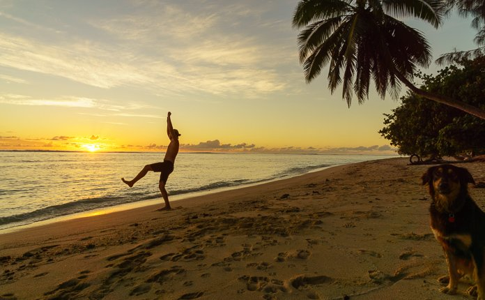 Sunset on Rarotonga Beach