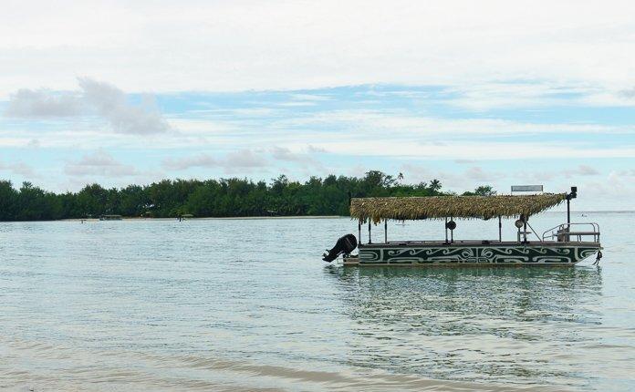Pontoon in Water Rarotonga