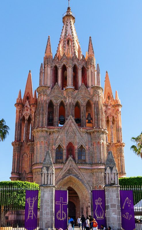 San Miguel de Allende church Mexico