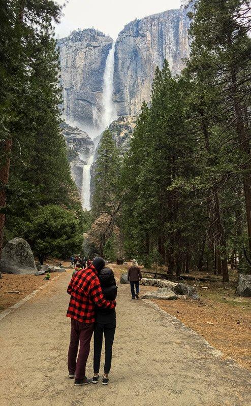 Yosemite Falls Couple