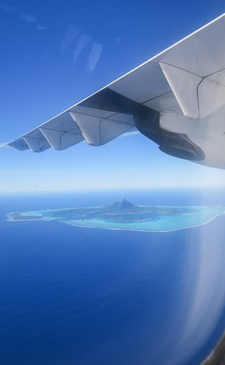 Flying over French Polynesia