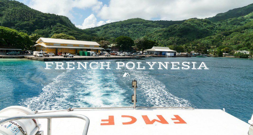 Taking Cargo Boats around French Polynesia