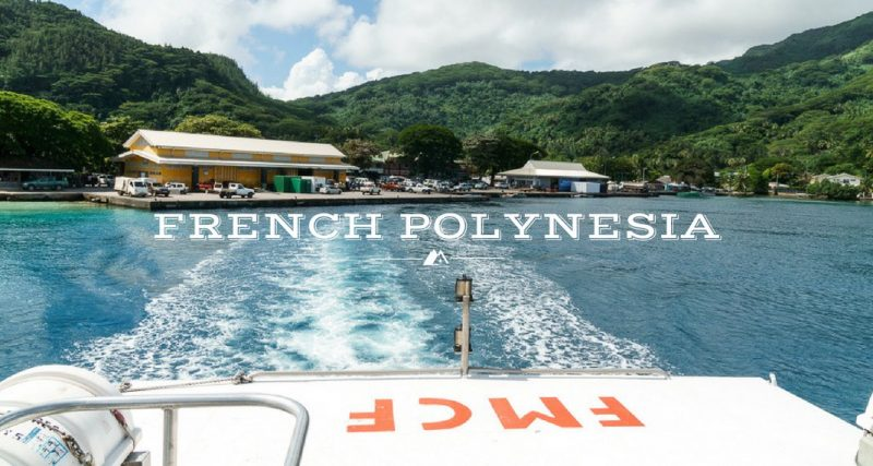 Taking Cargo Boats around French Polynesia