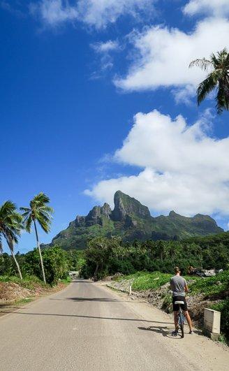 Biking around Bora Bora