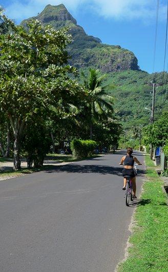 Biking Bora Bora