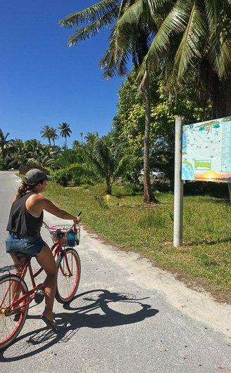 Biking Fakarava