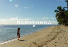 Girl on Beach Rarotonga Cook Islands