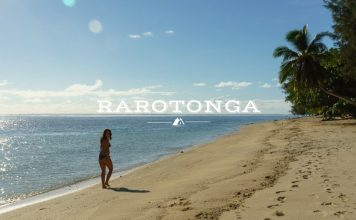 Girl on Beach Rarotonga Cook Islands