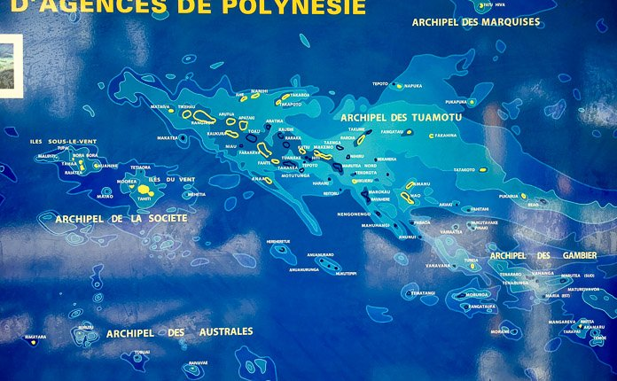 French Polynesia island map
