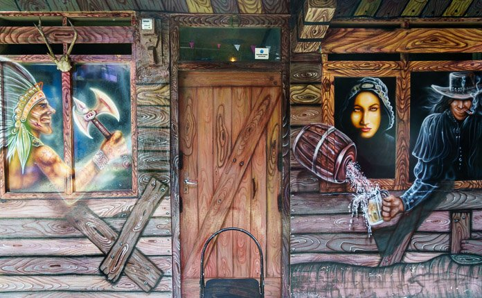 Wild West Saloon Artwork Kampung Tridi