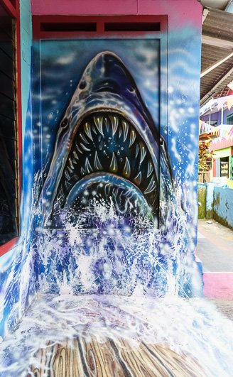 Jaws Artwork Kampung Tridi