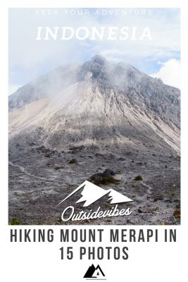 Photos of HIking Mount Merapi Java Indonesia
