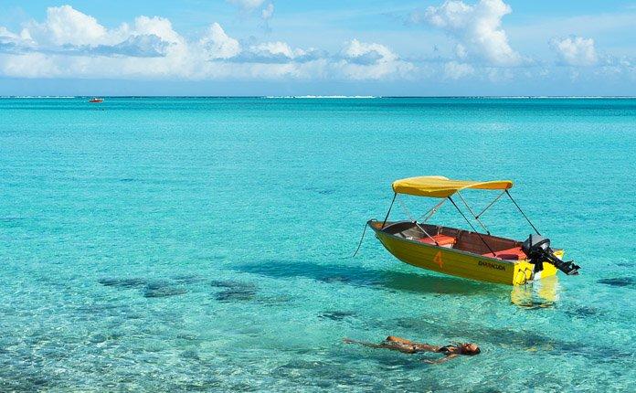 Swimming Bora Bora French Polynesia