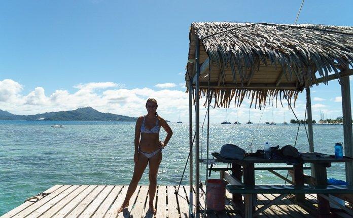 Swimming Raiatea French Polynesia