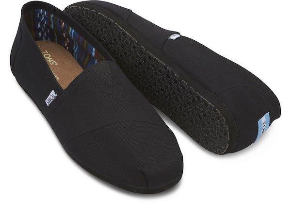 Toms Mens Black Canvas Shoes