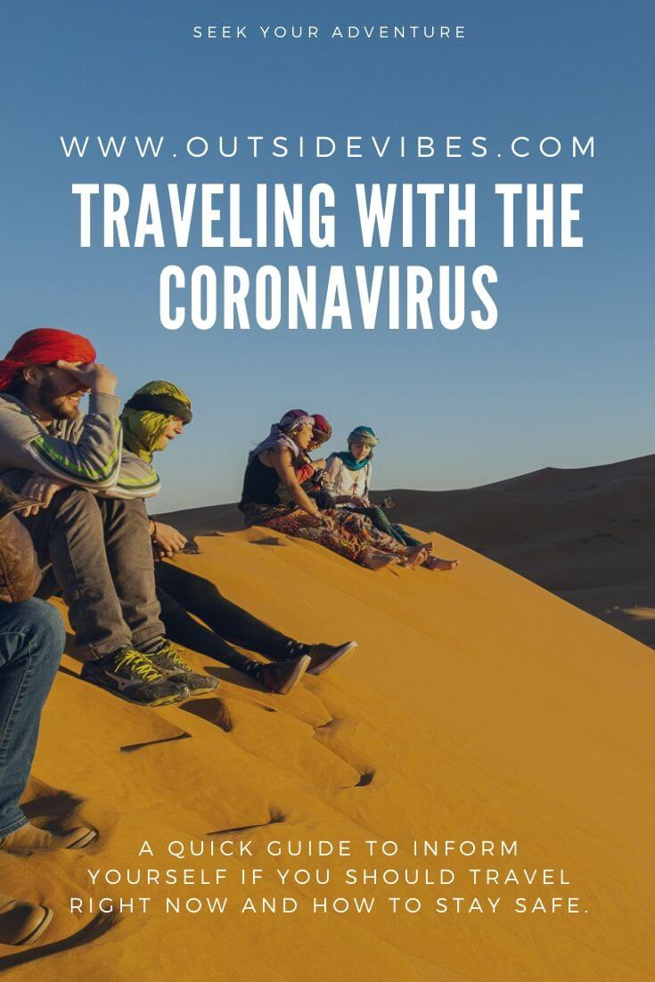 Traveling with the coronavirus pintrest