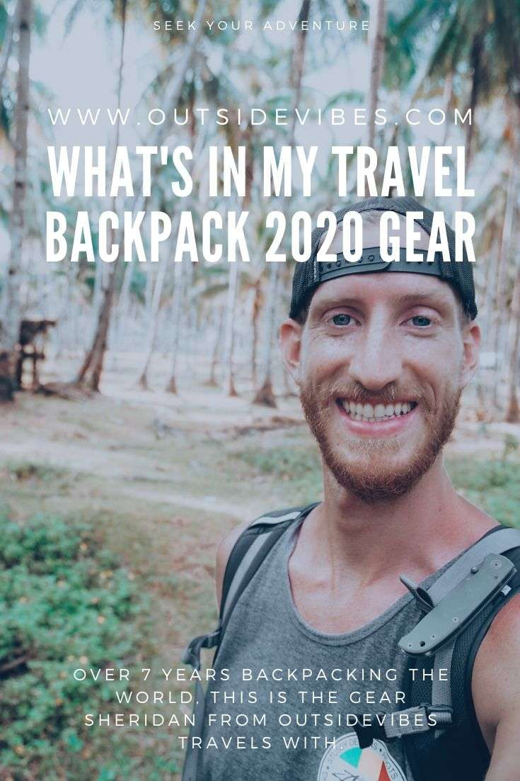 Whats in my travel backpack pinterest