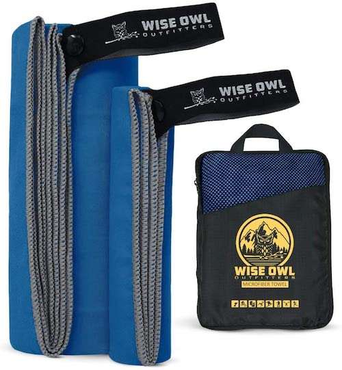 Wise Owl Microfiber Travel Towel
