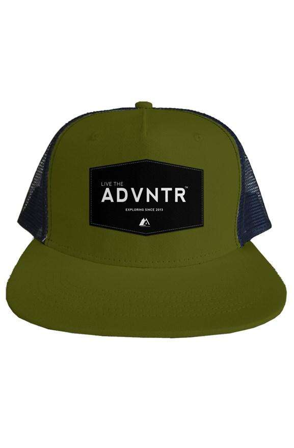 Outsidevibes Travel Adventure Mesh Trucker Olive Hat